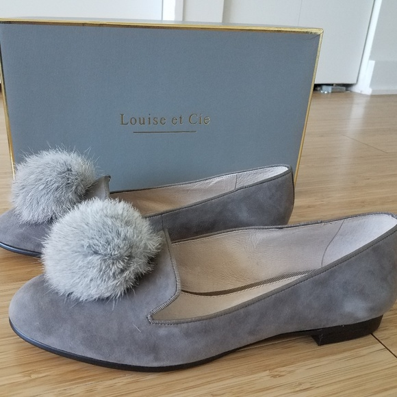 ae85bdee640 Louise et Cie Lo-Andres Suede Loafer fur Pompom 8M